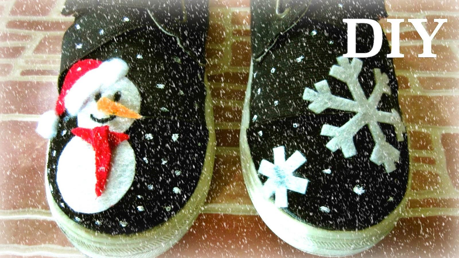 Christmas Shoes Diy.Aira Tran Diy Snowman Shoes Diy Christmas Gifts