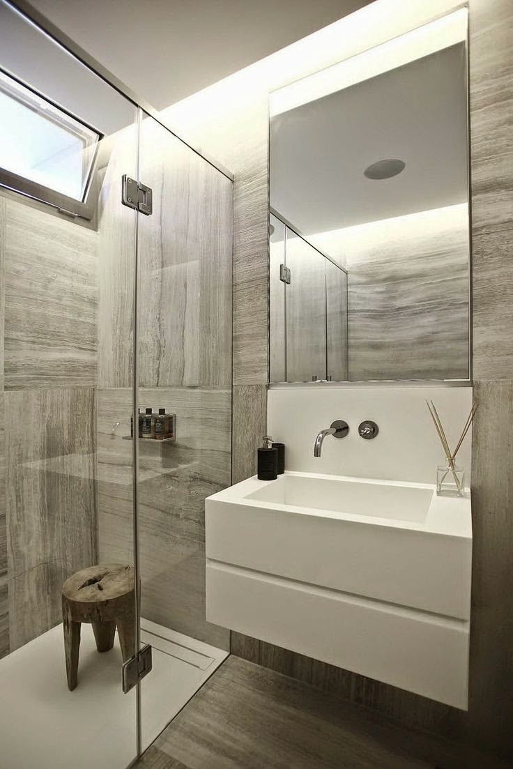 Decoracion Baños Pequenos Modernos Fotos:20 ideas de decoración para baños modernos pequeños 2015