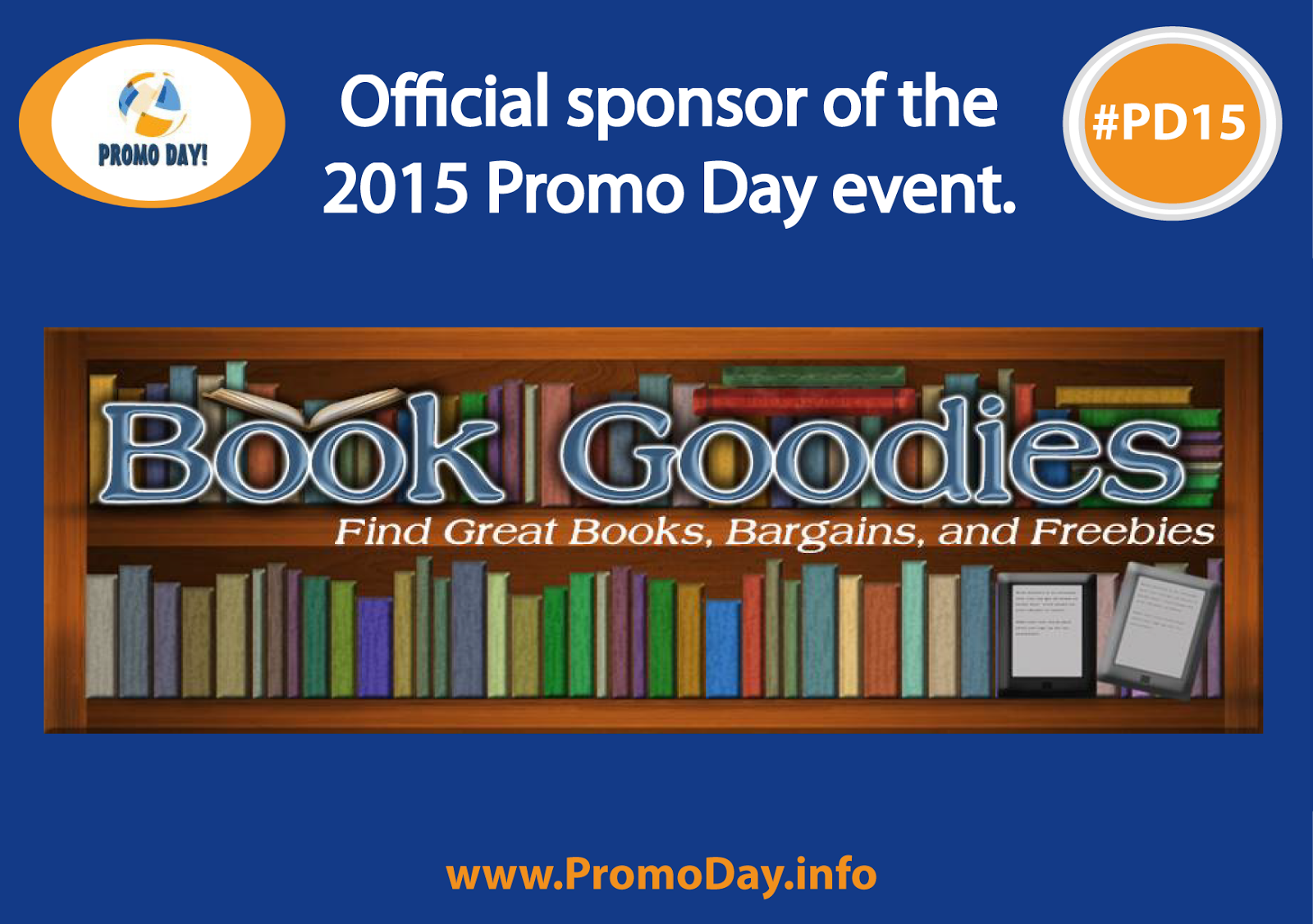 Meet the #PD15 Sponsors, Book Goodies, www.PromoDay.info