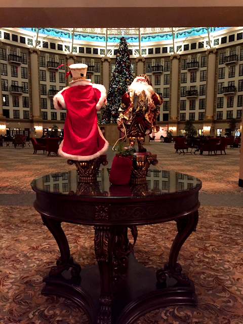 Santa decor at West Baden Springs Hotel