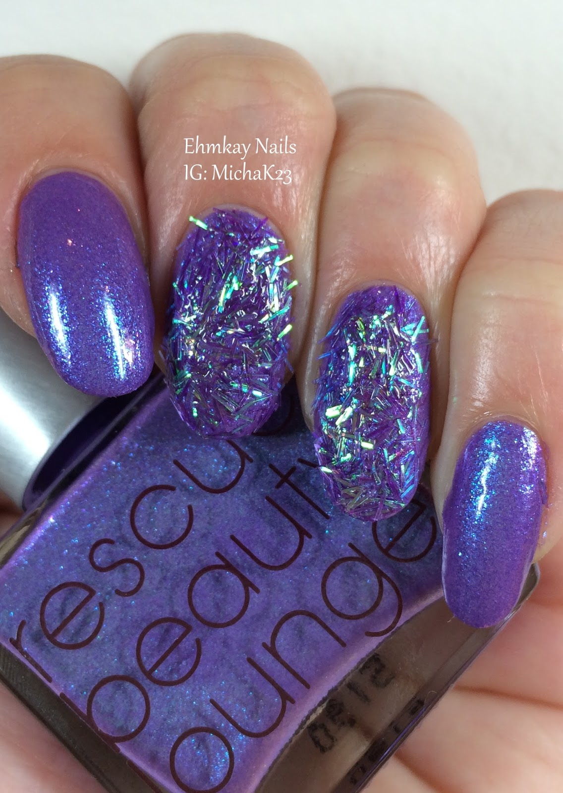 Ehmkay Nails Happy New Year S Eve Nail Art Stamping: Ehmkay Nails: Rescue Beauty Lounge Galaxsea With 3D Glitter