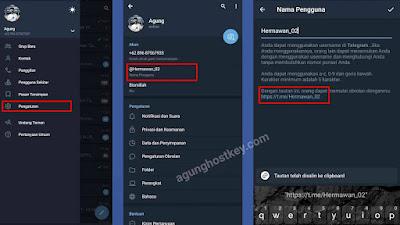 cara mengetahui link telegram kita, cara melihat link telegram, cara copy link telegram