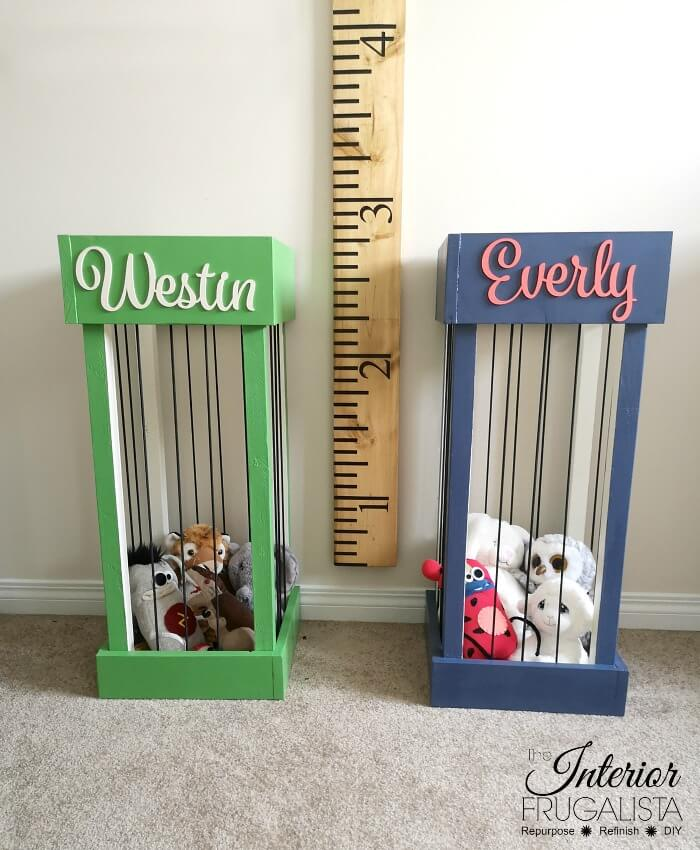 Personalized DIY Stuffed Animal Storage Zoo