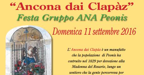 """Peonis. Domenica festa ai Clapaz con un'ospite d'onore, """"l'alpino del '76"""""""