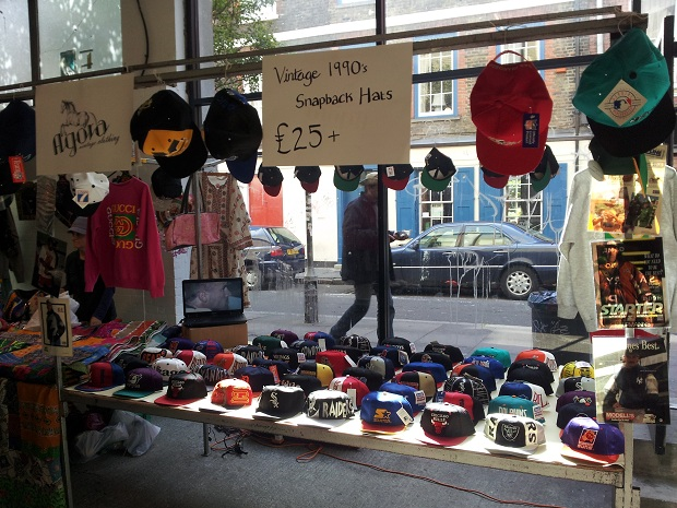 Snapbacks at the Brick Lane Upmarket - Agora Clothing Blog b3d949caade