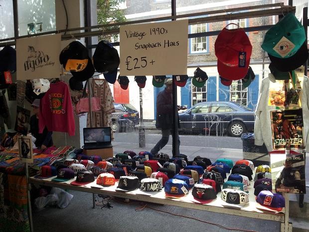 Snapbacks at the Brick Lane Upmarket - Agora Clothing Blog 0fbcadce215