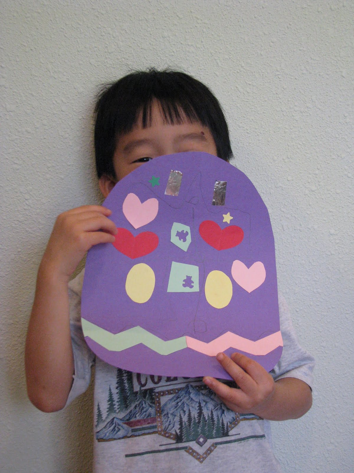 Love2learn2day Easter Egg Symmetry Bunny Tangrams
