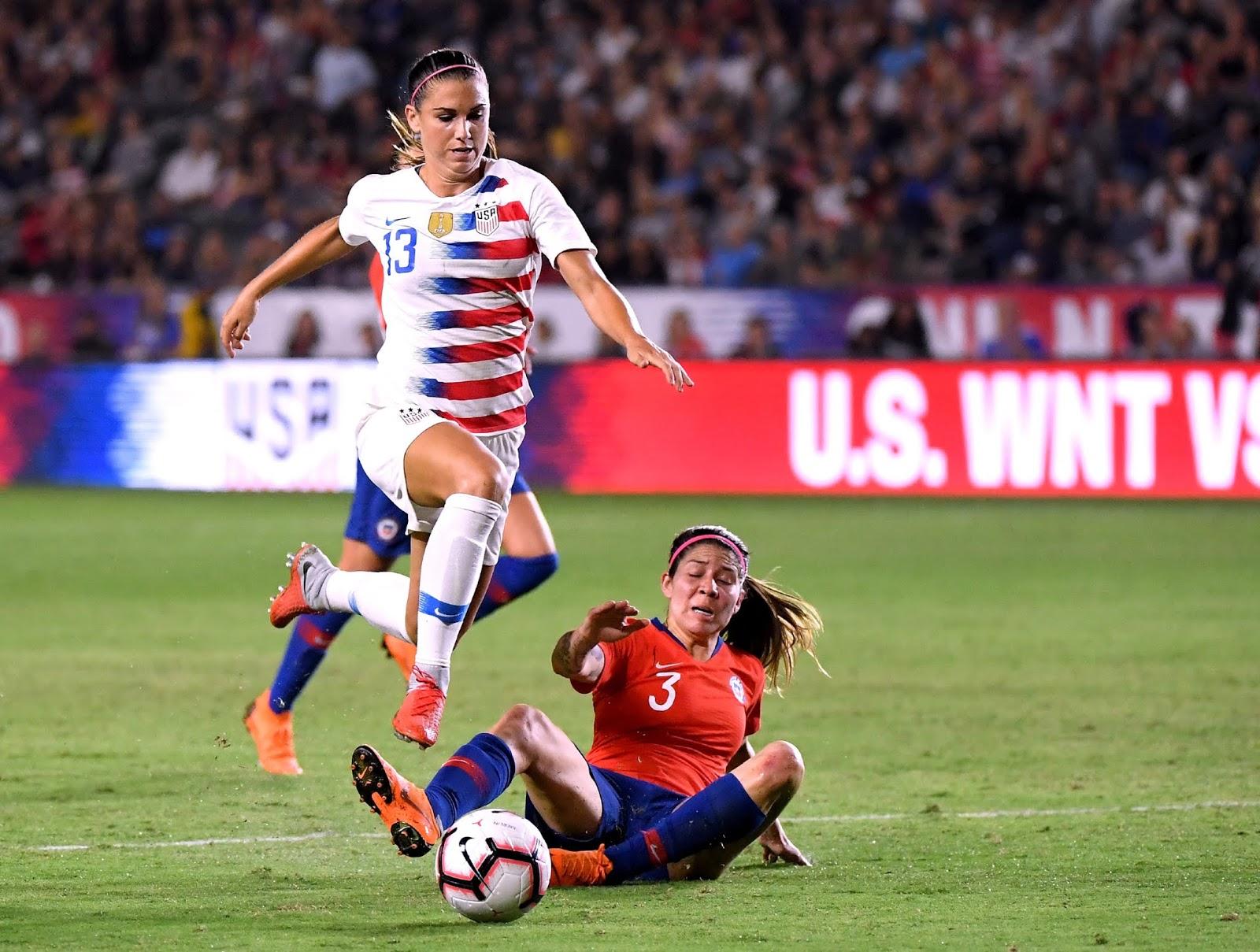 Estados Unidos y Chile en partido amistoso femenino, 1 de septiembre de 2018