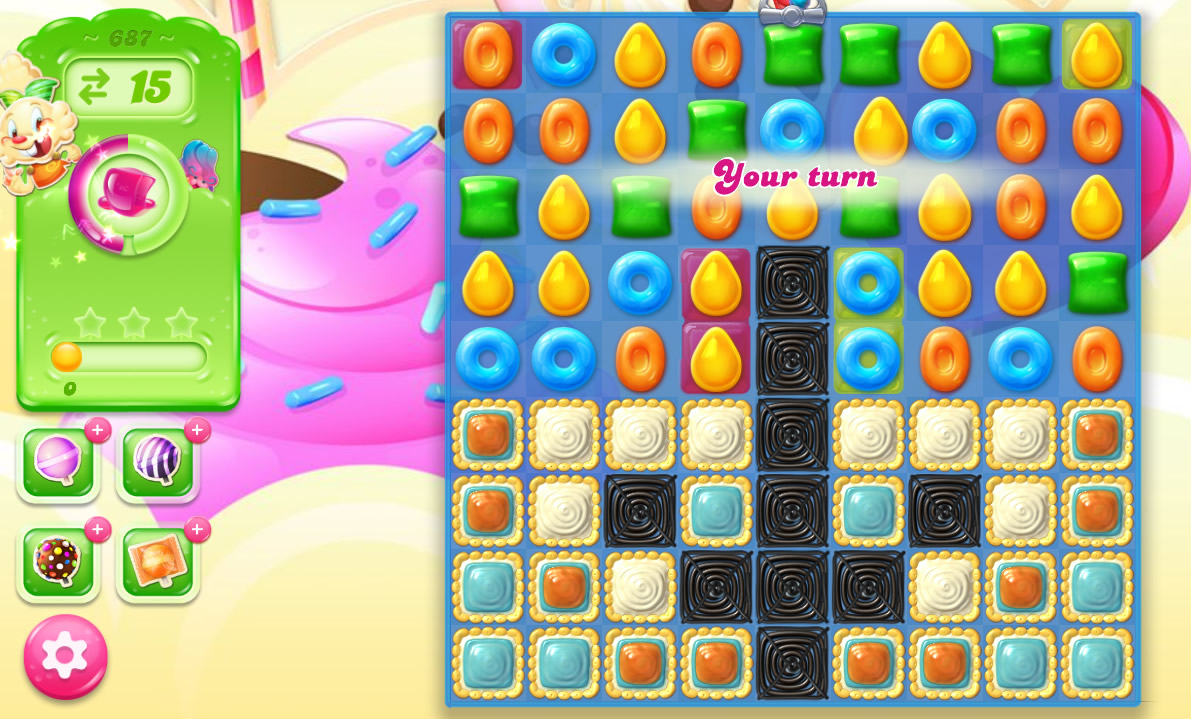 Candy Crush Jelly Saga level 687