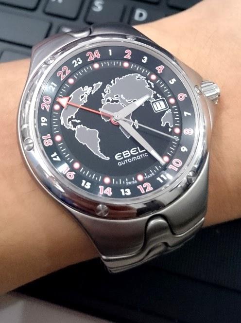 Hobby Jamtangan  (SOLD) EBEL Watch - Sport Wave GMT Ref.9123K51 ... f179462a73