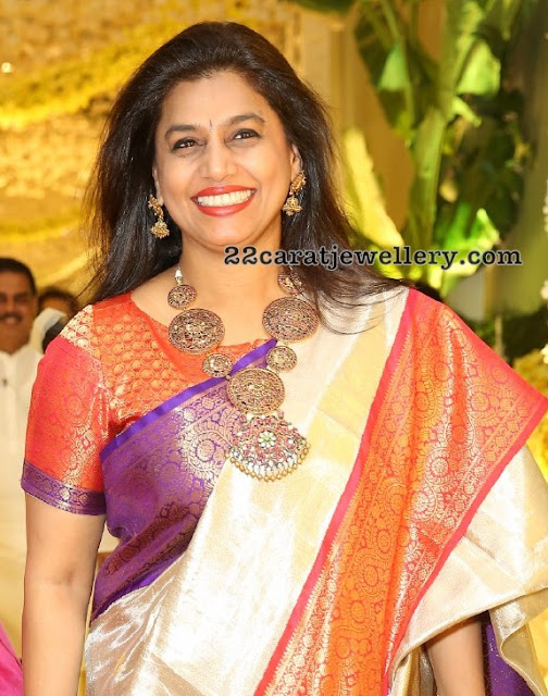 Pinky Reddy in Temple Jewellery