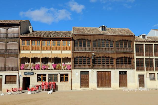Casas de la plaza del Coso de Peñafiel, Valladolid