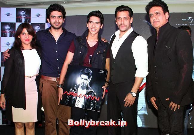 Amal Malik, Salman Khan and Armaan Malik, Anu Malik's Nephew 'Armaan Malik' Album Launch