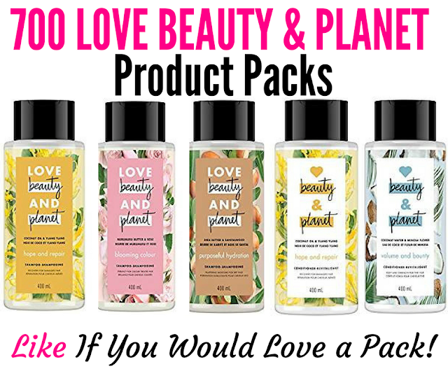 700 Canadians Will Get To Try Love Beauty & Planet a NEW Brand!