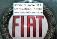 Fiat lavora con noi: assunzioni in Italia
