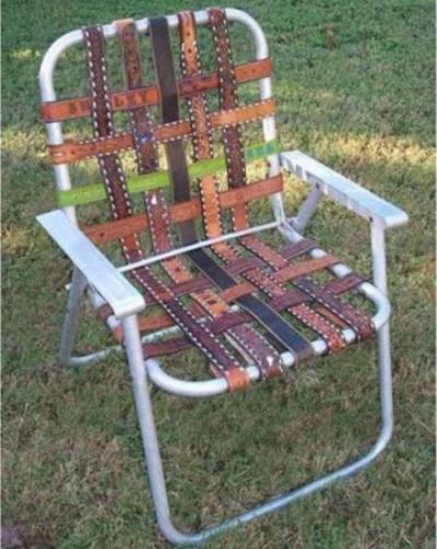 Manfaatkan sabuk kulit bekas untuk makeover kursi