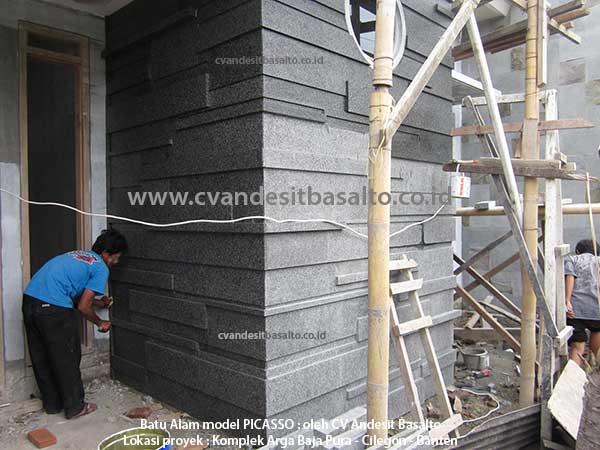Pemasangan Batu Alam model PICASSO