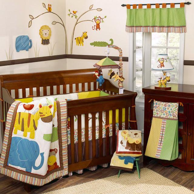 d coration jungle chambre b b. Black Bedroom Furniture Sets. Home Design Ideas