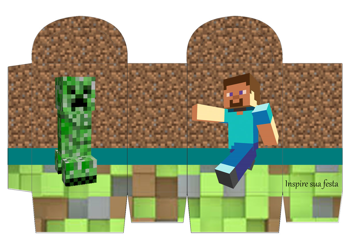 picture regarding Printable Minecraft Images named Minecraft Celebration: Free of charge Printable Containers. - Oh My Fiesta! for Geeks