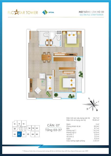 Thiết kế căn hộ 07 - FLC Star Tower