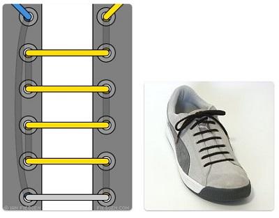 cara mengikat tali sepatu converse