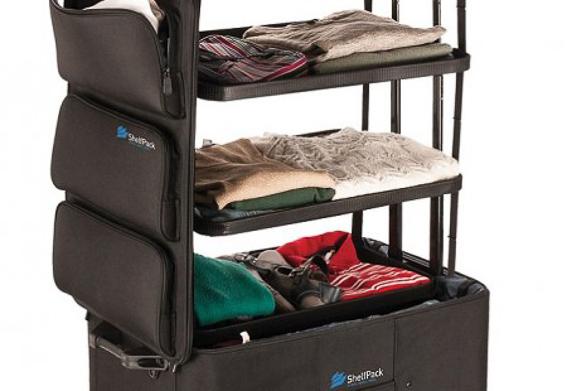 Shelfpack maleta con baldas. Regalos para padres viajeros