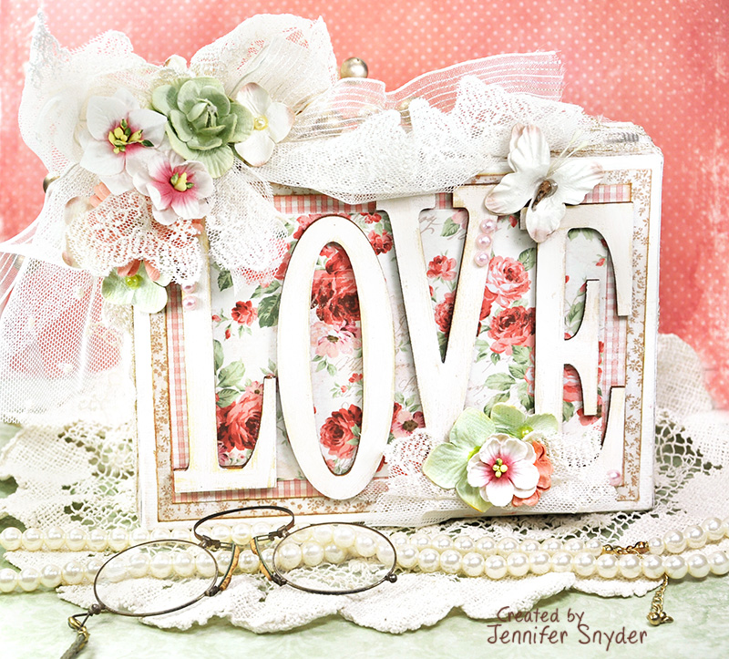 Scrap escape home decor shabby chic love canvas for Home decor 2 love