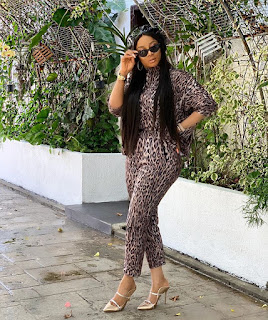 Toke Makinwa Thankful As Her Home Was Almost Gutted By Fire (Photos)