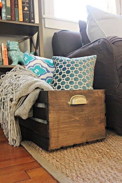 Decorate with old wooden crate boxes 7