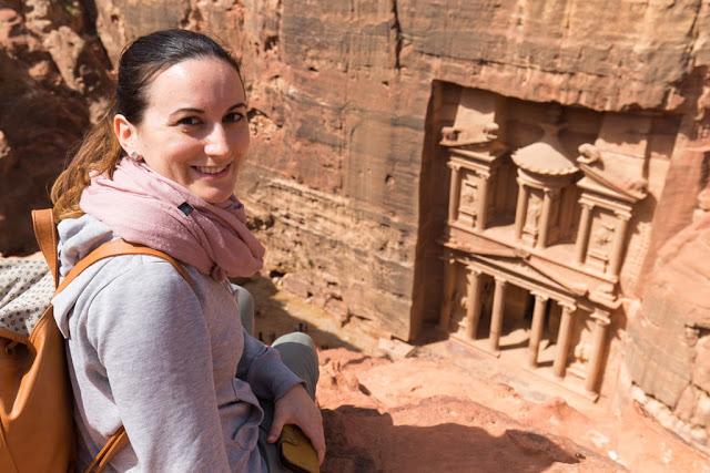 Vistas del Tesoro de Petra desde arriba, Jordania