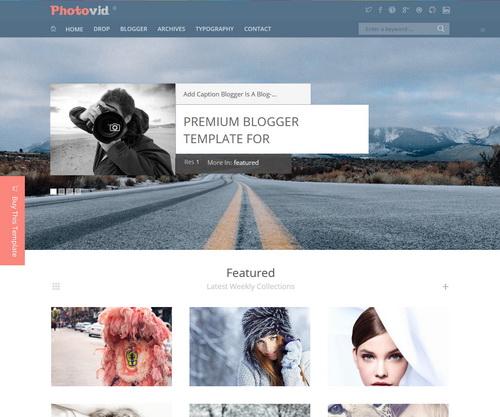 PhotoVid Blogger Template