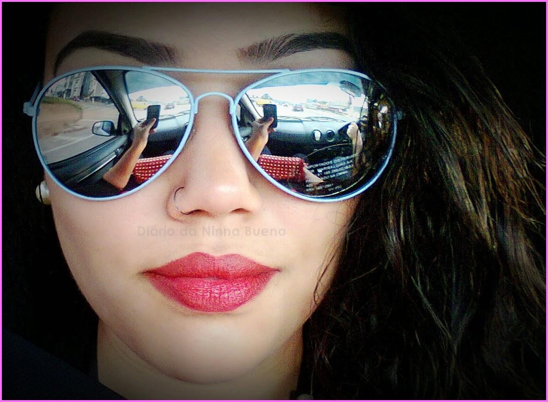 bfd6d6b389b47 Diário da Ninna Bueno  Óculos de sol Aviador - Marisa