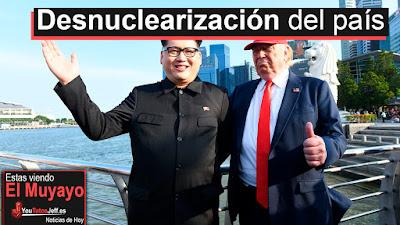 Kim Jong-un y Donald Trump en singapur