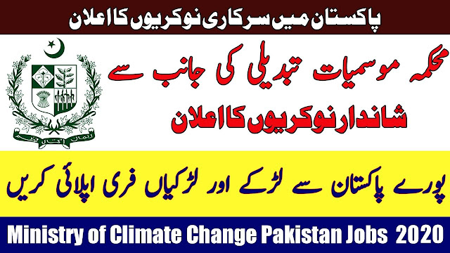 Ministry of Climate Change Jobs 2020 in Pakistan Environmental Protection Agency
