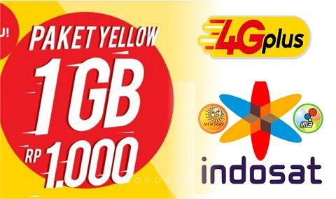 Paket Internet Indosat Hanya Rp. 1000 dapat1 GB