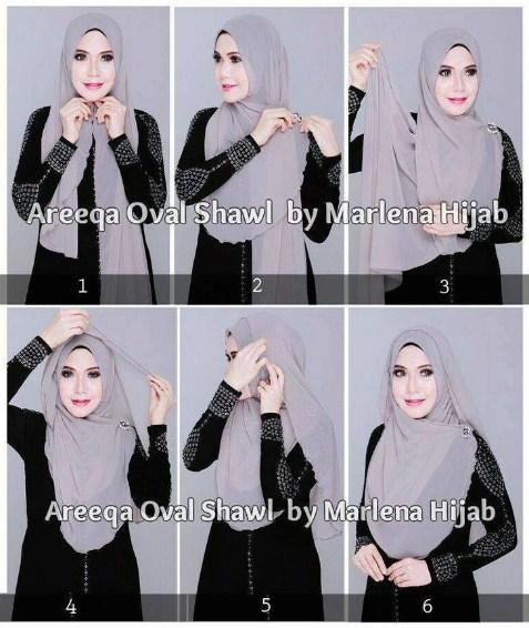 Kumpulan Gambar Tutorial Hijab Modern Syari Untuk Style Yang Modis