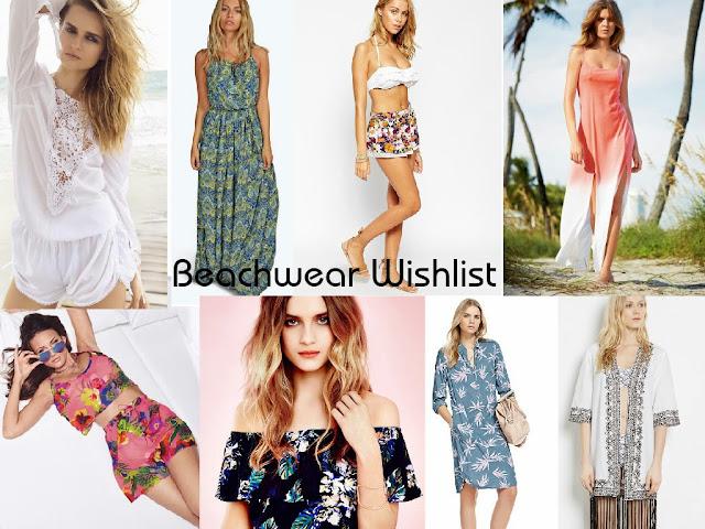 Beachwear - Wishlist - Holiday - Fashion - playsuit - maxi dress - shirt dress - kaftan - shorts - Monsoon - River Island - Boohoo - Next - Lipsy - Marks and spencer - Miss selfridges - Warehouse