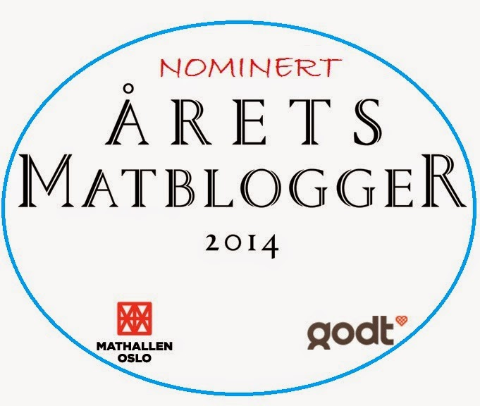I was one of the finalists of the 2014 Norwegian Best Food Blogger Awards!