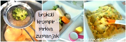 Brokula, krompir, mrkva i zumance za bebe