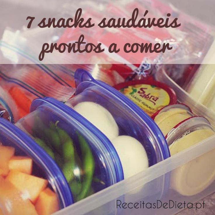 7 Snacks Saudáveis Prontos a Comer