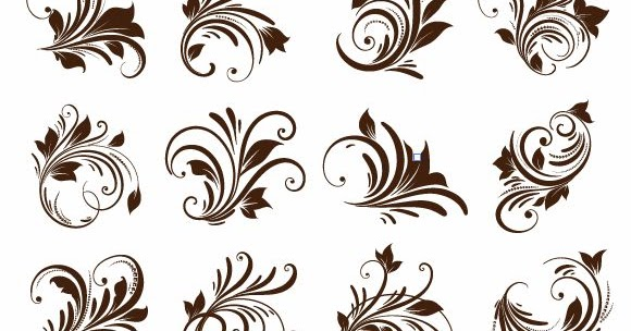 20 Free Floral Ornament Element Vector Graphics - CDR FILE | Guru Corel