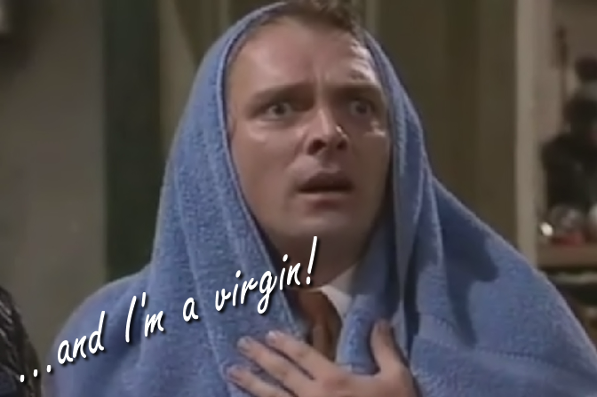 Rik Mayall in Bottom