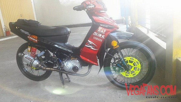 Modifikasi Vega ZR Road Race Merah Hitam