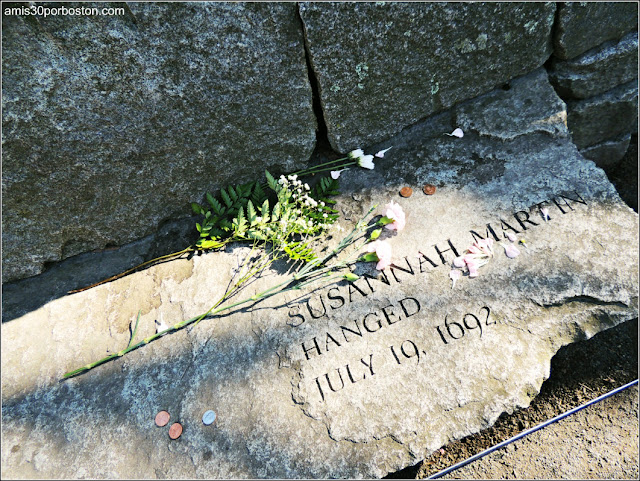 Tumbas Brujas Salem: Susannah Martin - Ahorcada