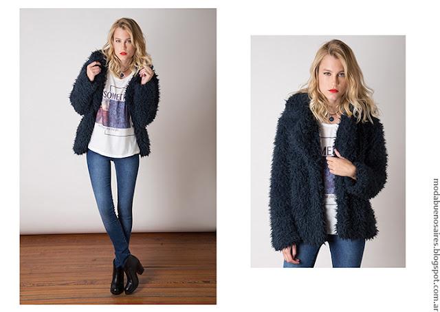 Tapados cortos invierno 2016 ropa de mujer moda 2016 Nuara.