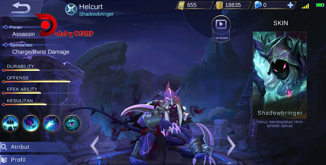 Mobile Legends : Hero Helcurt ( Shadowbringer ) Attack Speed Builds Set up Gear