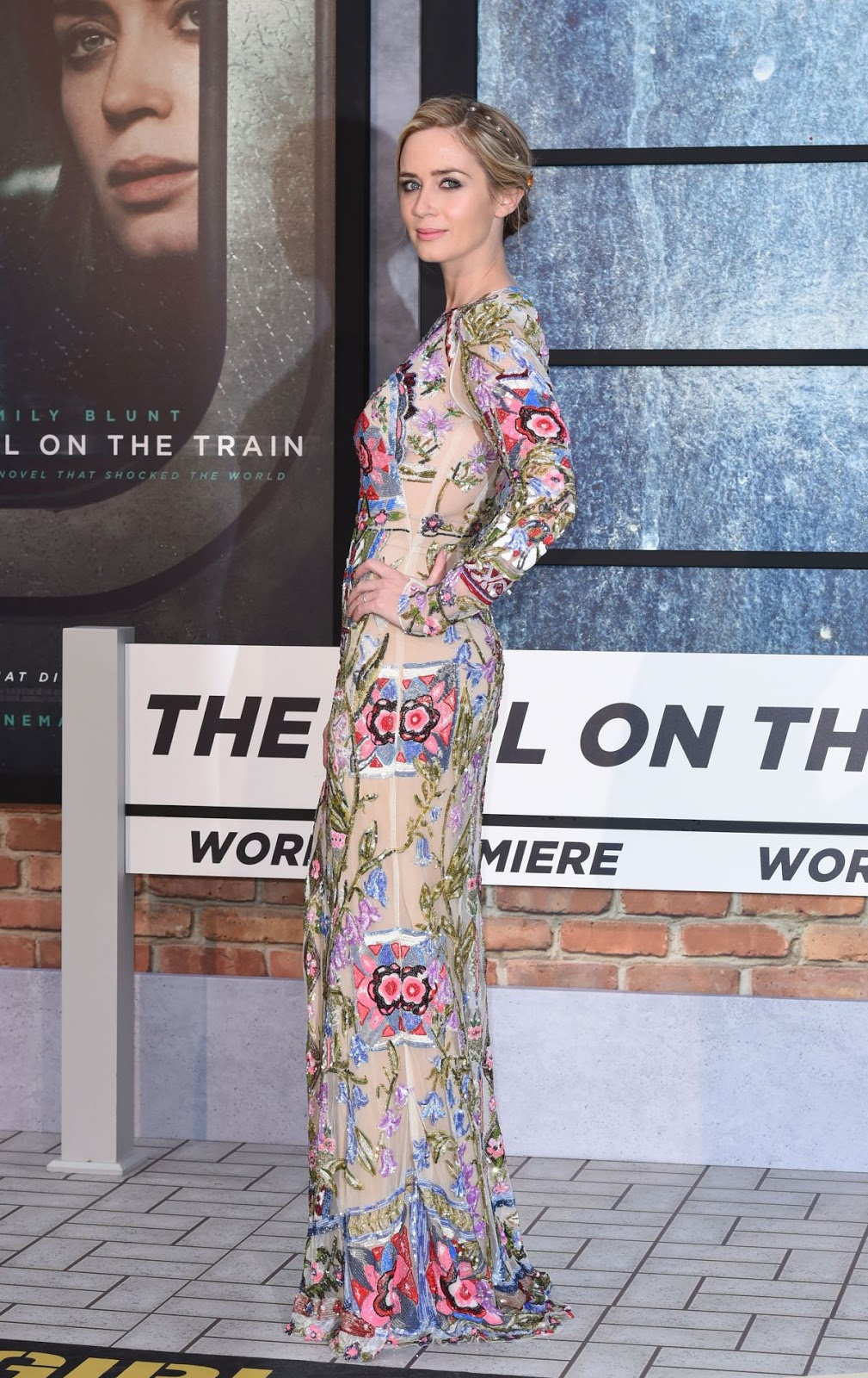 Emily Blunt at 'The Girl on the Train' Premiere in London