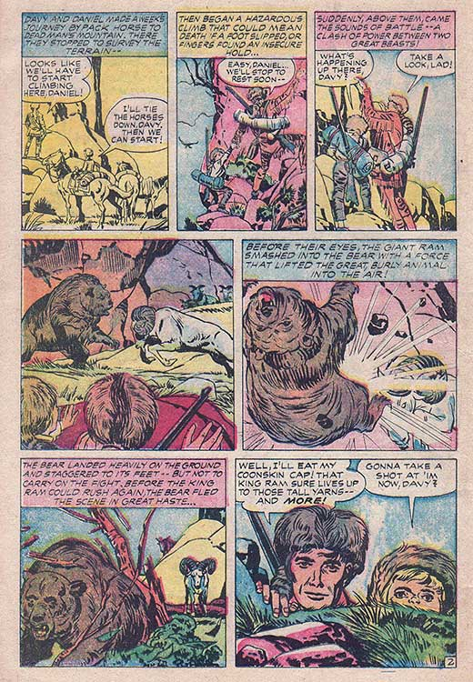 davy crockett adventures Once again from comicbookplus, here's an adventure of my great-great-great  grandson lance lewis (named by my descendants, no doubt, for lance  casebeer).