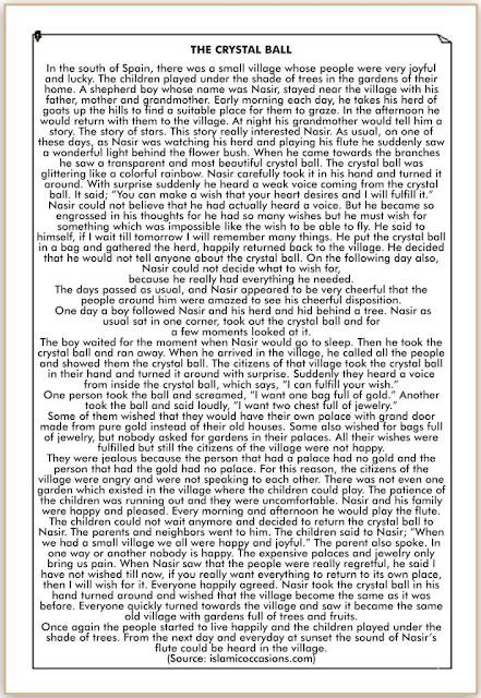 Cerita dalam Bahasa Inggris yang Pendek