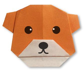 bearface Halloween Origami Diagram on